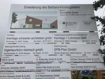 Neubau- Erweiterung  Barbara- Kindergarten Garrel